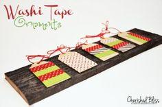 Washi Tape Ornaments - Cherished Bliss