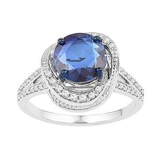 Fred Meyer Jewelers | 1/3 ct. tw. Diamond and Blue Sapphire Fashion Ring $440