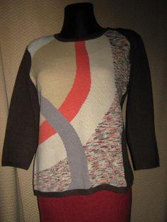 NEU* Edler * Designer * Glitzer * Cashmeré * Vintage * Strick- Pullover * Gr. 38- 40/ S- M, braun *