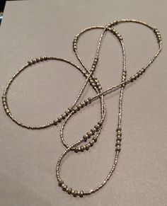 Seed bead necklace. Beth Stone