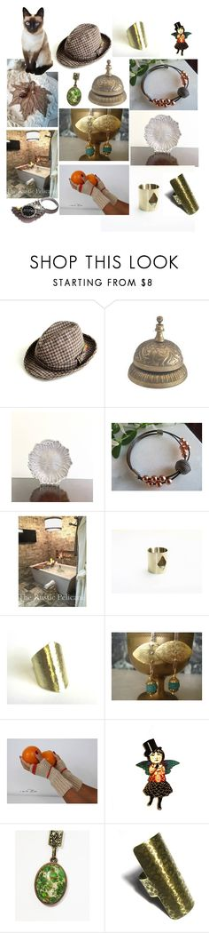 """Handmade on Etsy"" by anna-recycle ❤ liked on Polyvore featuring CABARET, modern, rustic and vintage"