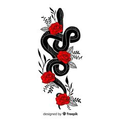 Hand drawn snake with flowers illustration Vector Snake Drawing, Snake Art, Kobra Tattoo, Snake Outline, Equality Tattoos, Ink Tattoo, Colorful Snakes, Grunge Art, Hand Flowers