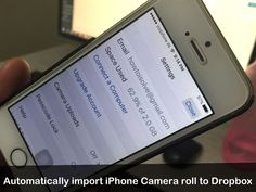 Amazing way to take backup of photo and video. Here's a way to automatically import iPhone camera roll to Dropbox. Follow step by steps to upload Photos.
