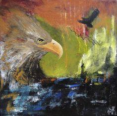 The eagle, 50 x 50 cm