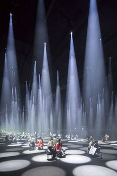 """Gallery of Sou Fujimoto Installs a \""""Forest of Light\"""" for COS at 2016 Salone del Mobile - 21 Image 21 of 32 from gallery of Sou Fujimoto Installs a \""""Forest of Light\"""" for COS at 2016 Salone del Mobile. Photograph by Laurian Ghinitoiu Sou Fujimoto, Light Art Installation, Interactive Installation, Art Installations, Interaction Design, Instalation Art, Light And Space, Stage Lighting, Stage Design"""