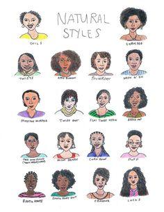 Natural Hair Styles  #curlyhair #naturalchics #naturalhair #teamnatural