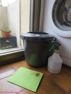 Le nettoyage (sain) du seau à couches