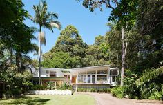 All photos by Eve Wilson via The Design Files Designed by an Australian architect as own family home in the 1950s, this easy, breezy, beautiful midcentury in Sydney's northern suburbs...