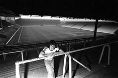 Football, March Anfield, Liverpool, Liverpool FC player Kevin Keegan is pictured on the terracing at Anfield Kevin Keegan, Anfield Liverpool, The Beatles, Terrace, England, Football, Concert, March, Balcony