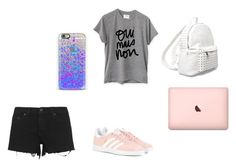 """""""Back to School"""" by yantbella ❤ liked on Polyvore featuring adidas Originals, rag & bone, Sincerely, Jules, 7 Chi and Casetify"""