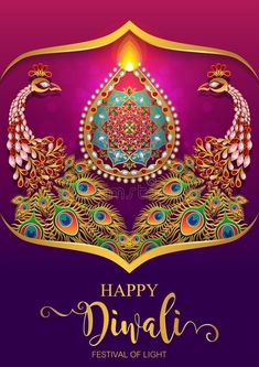 Illustration about Happy Diwali festival card with gold diya patterned and crystals on paper color Background. Diwali Greetings, Diwali Wishes, Dasara Wishes, Happy Diwali Pictures, Diwali Poster, Diwali Photography, Diwali Pooja, Diwali Quotes, Diwali Festival Of Lights