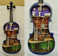 STEAMPUNK-FAiRY-DOLLHOUSE iN ViOLiN        http://www.etsy.com/listing/119051183/steampunk-dollhouse-fairy-house-in?ref=sr_gallery_13_search_query=VIOLIN_view_type=gallery_ship_to=US_search_type=all