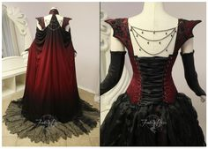 Crimson Moon Dragon Gown (made by Firefly Path)