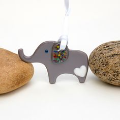 Fused Glass Elephant Ornament by buffaloartglass on Etsy https://www.etsy.com/listing/245728578/fused-glass-elephant-ornament