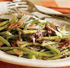 Green Beans & Radicchio with Shaved Parmesan
