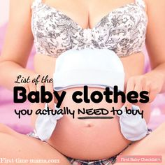 List Of Baby Clothes You Need For Your Newborn! A little preparation goes a long way when shopping or registering for baby clothes. #babyclothesnewborn #babyclothesyouneed #listofbabyclothesyouneed