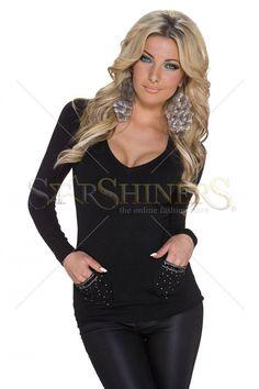 Provocative Trend Black Sweater
