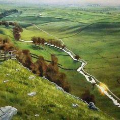 Watercolor. #malham #malhamcove #malhamcovewalk #watercolor #watercolourbritain #watercolour #yorkshiredales