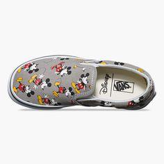 61d9ea4b4c VANS Disney Mickey Mouse Classic Kids Slip-On Shoes Mickey Mouse Vans