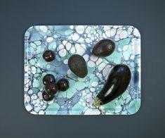 Swedish design company Studio Formata's marbled serving tray 'Emerald Echo'.