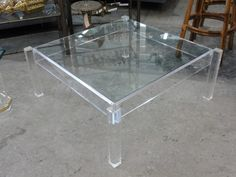 Modern Vintage Lucite Coffee Table