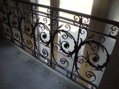 Ringhiera delle scale di servizio in ferro battuto alla Villa Reale di Monza  Foto-diario di una giardiniera curiosa