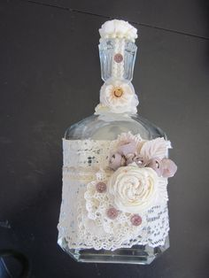 Ultimate Altered Bottle  expensive vintage shabby by ItseeBitsee, $68.00