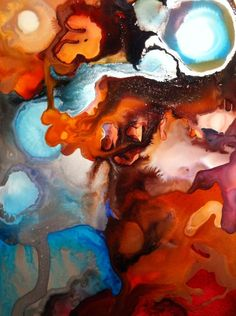Name: Seduction/ Alcohol Ink/ 5x7 on Yupo framed/ $65.00 Original painted by Christine Purdy