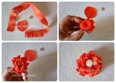 fiori di feltro 10 facili tutorial senza cucire - manifantasia Hobby, Crochet Necklace, Flowers, Diy, Street, Felt Fabric, Bricolage, Do It Yourself, Royal Icing Flowers