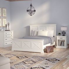 Best Laurel Foundry Modern Farmhouse Moravia Standard Bed 400 x 300