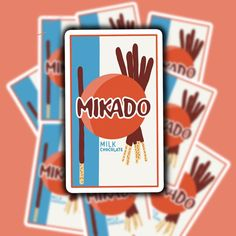 Mikado Sticker Food Stickers Pocky Sticker Aesthetic | Etsy Food Stickers, Cheap Stickers, Vinyl Sticker Paper, Aesthetic Stickers, Glossier Stickers, Craft Supplies, How To Draw Hands, Scrapbook, Mini