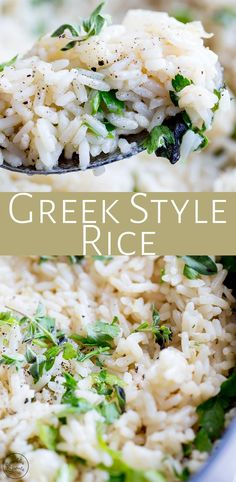 This Greek style rice is so easy to make and makes the perfect side dish for your greek chicken or souvlaki. With just a handful of ingredients, you can make this restaurant style Greek rice pilaf at home! It is wonderful served hot or allow it to cool and serve it at room temperature as part of a picnic. Or portion it out with some grilled chicken and fresh spinach for your lunch prep!