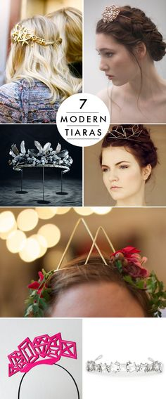 20 DIY wedding ideas - Modern Tiaras for the chic bride!