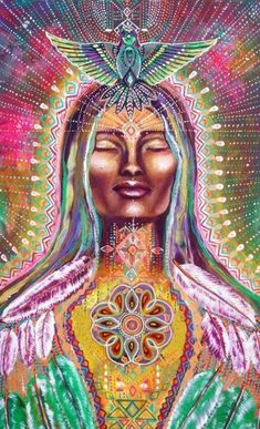 Every woman should be treated, honored and embraced like the most beautiful, precious and unique Goddess that she is.- Art by Isabelle Bryna / Sacred Geometry Art Visionnaire, Psy Art, Spirited Art, Goddess Art, Sacred Feminine, Mystique, Weaving Art, Visionary Art, Sacred Art