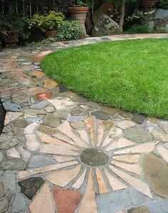 stone patio designs - Google Search