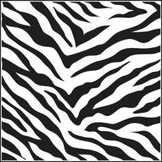 Zebra Stencil 6 x 6 by TheCookieCountess on Etsy