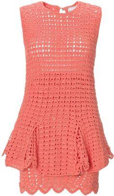 Coral Crochet Chic Chic Dress - Lyst
