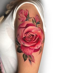 cool rose tattoo ideas © tattoo artist Antonina Troshina 💟🌹💟🌹💟🌹💟🌹💟 rose tattoo ideas Feed Your Ink Addiction With 50 Of The Most Beautiful Rose Tattoo Designs For Men And Women Rose Tattoos For Women, Tattoo Designs For Women, Tattoos For Guys, Tattoo Women, Pretty Tattoos, Unique Tattoos, Beautiful Tattoos, Amazing Tattoos, Tattoo Henna