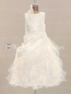 09e0699aa8a Princess Flower Girl Dress with Organza Ruffles FL220