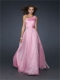 Beaded One Shoulder Pleated Sequined Chiffon Prom Dress PD10840 www.dresseshouse.co.uk $128.0000