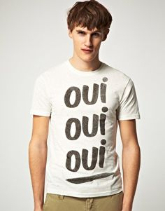 Enlarge Paul Smith Jeans Oui Oui Oui Slim Fit T-Shirt