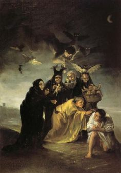 The Spell by Francisco Goya  O feitiço de Francisco Goya