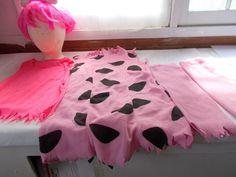 Rubie's Pebbles Flintstones Costume Girls Teen Dress Wig Leggings Top #Rubies #CompleteCostume