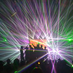 At Amnesia, Ibiza. We could get tons of laser lights