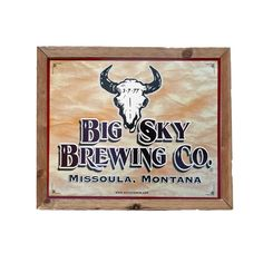 Big Sky Brewing Co tin tacker. Find sweet tin tackers (metal beer signs) for your garage, home bar or man cave on www.tintackers.com