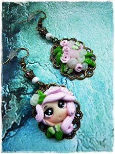 Amulett Ohrringe-süß von Marions Traumlädchen auf DaWanda.com