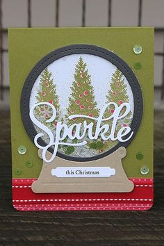 Sparkle This Christmas Card by Heather Nichols for Papertrey Ink (September 2014)