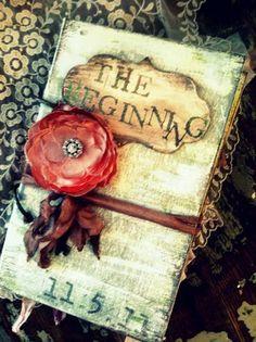 Trendy Tuesday: Vintage Wedding Guest Books | Confetti Daydreams