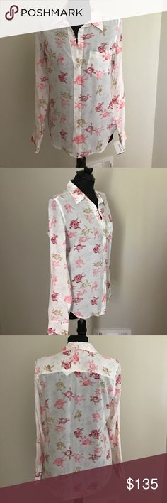 Equipment Silk Blouse NWT New with tags Equipment silk blouse. Cute pink and tan pattern perfect for spring/summer wear. Equipment Tops Button Down Shirts