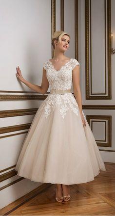 Justin Alexander 1950's wedding dresses #weddingdress